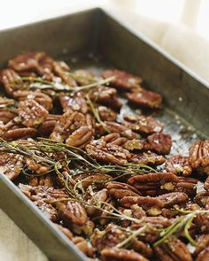 Honey Rosemary Pecans -  #sweetpaul