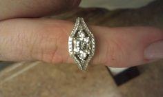 Engagement ring -- Carat radiant diamond in white gold setting Radiant Engagement Rings, Gold Set, Diamond Earrings, White Gold, Jewelry, Jewlery, Jewerly, Schmuck, Jewels