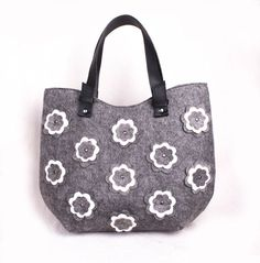 Felted flower bag Ladies felt purse Floral felted bag Women's side purse Ladies hobo bag Medium size handbag Flower design bag volaris
