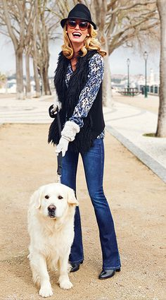Fantastic -- Casual Chic ! Gallery Wash Slim Boot $108 + Infinite Vest $118 + Fatale Blouse  $98  www.marissanelms.cabionline.com  - CAbi Fall 2014 Fashion - Carol Anderson by Invitation