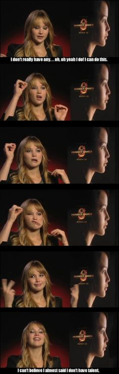 Jennifer Lawrence is awesome. And I will be as well when I pull out this trick