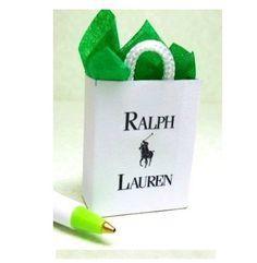 Dollhouse Miniature  FAMOUS CLOTHING STORE SHOPPING BAG    SHB410