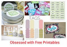 Lots of links to printables, great gift tags