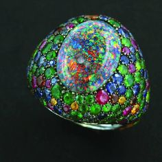 """""""Opal ring. One of my early pieces. Back here for a close up. Circa 2000…"""