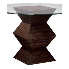 Sterling Industries Hohner Table Base Zebrano