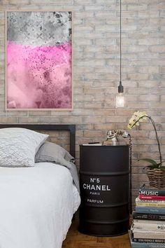 Large abstract print Abstract pink art Pink and gray art