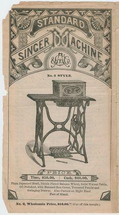 Singer ad