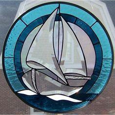Boat Stained Glass Patterns için resim sonucu #StainedGlassPanels #StainedGlassOcean