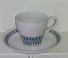 Arabian puhalluskoristeinen ehjä kahvikuppi