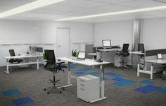 Office Layout Ideas Adjustable Desk