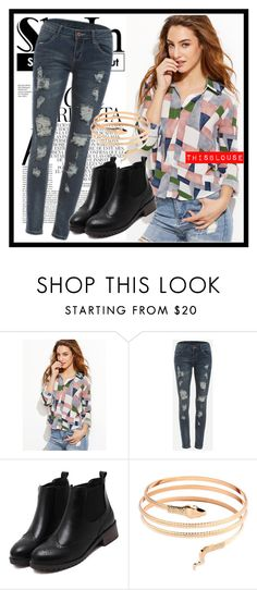 """""""235. SheIn"""" by diana97-i ❤ liked on Polyvore featuring Whiteley, blouse and shein"""