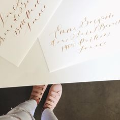 """680 Likes, 14 Comments - Jenna Rainey (@monvoirco) on Instagram: """"Calligraphy and painting all day in white pants because I live my life on the edge. ⚡️✨#monvoir…"""""""