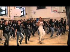 Beyonce surprises some students performing to Let's Move