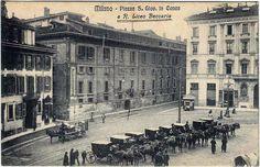Piazza San Giovanni in Conca, ora Missori, lato verso via Unione e via Zebedia, inedita, 1900-10   da Milàn l'era inscì