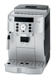 De'Longhi Magnifica S ECAM 22.110.SB Kaffeevollautomat (Direktwahltasten und Drehregler, Milchaufschäumdüse, Kegelmahlwerk 13 Stufen, Herausnehmbare Brühgruppe, 2-Tassen-Funktion) silber