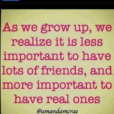 Thank you to all our REAL friends!!