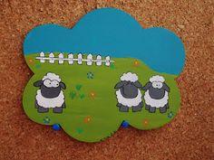 Uma placa com ovelhas ^^   http://asmalasdabi.blogspot.pt/2012_11_01_archive.html