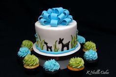 Baby Shower cake by K Noelle Cakes