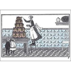 Birthday Cake by Edward Gorey. Love him!