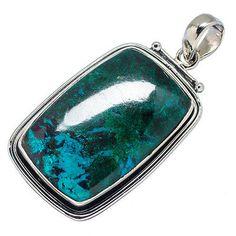 "Huge Shattuckite 925 Sterling Silver Pendant 2"" Ana Co Jewelry P541719"