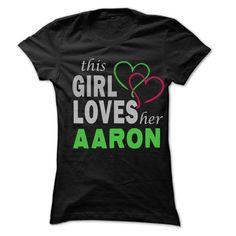 (Top Tshirt Facebook) This Girl Love Her AARON 99 Cool Name Shirt Facebook TShirt 2016 Hoodies, Funny Tee Shirts