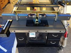 Retrofit benchdog promax to sawstop ics router table on table saw sawstop and router cabinet infeed table outfeed table project by zzzzdoc lumberjocks greentooth Gallery