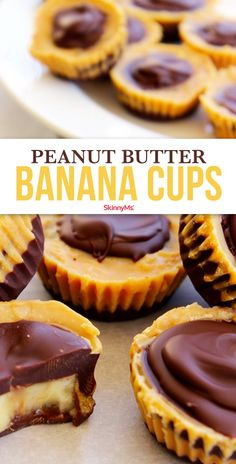 Our scrumptious Peanut Butter Banana Cups are rich, chocolatey, peanut buttery cups that melt in your mouth, but are made with clean eating ingredients. Healthy Meals To Cook, Healthy Dessert Recipes, Healthy Treats, Delicious Desserts, Healthy Food, Healthy Eating, Candy Recipes, Healthy Peanut Butter, Peanut Butter Banana
