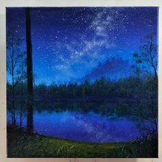 home decor pictures 10 Pretty Landscape Paintings For Home Decor - Painting Tutorial Videos Cute Canvas Paintings, Canvas Painting Tutorials, Diy Canvas Art, Acrylic Painting Canvas, Painting Videos, Deer Paintings, Gouache Painting, Painting Techniques, Painting Art