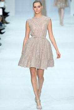 I adore this Elie Saab, short blush dress.  Gorgeous!<3 ~CapuchinoBeauty..