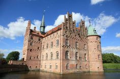 Egeskov Castle is located on the island of Funen, Denmark.