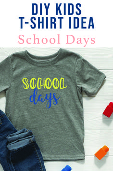 Make a cute back to school shirt with this darling SVG file from Everyday Party Magazine #BackToSchoolClothes #BackToSchool #CutFilesForCricut