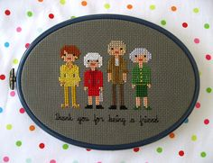 Kitschy Digitals :: Sewing & Needlework Patterns :: The Golden Girls Cross-Stitch Pattern