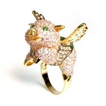 Fig the Flying Pig Ring by nOir