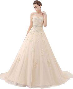 168eb255f94 Yuxin Luxury Sweetheart Crystal Beaded Wedding Dress 2018 Princess Long  Train Lace Ball Gown Wedding Dress Bride