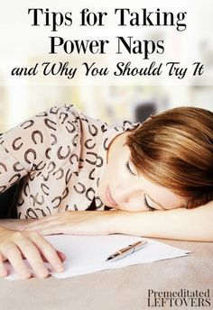 Do you get that mid-afternoon slump every day? A power nap could be the solution! Check out these tips for taking power naps (and why you should try it). Healthy life hacks and idea for keeping yourself rested.