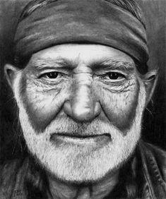 Willie Nelson by Doctor-Pencil.deviantart.com on @DeviantArt