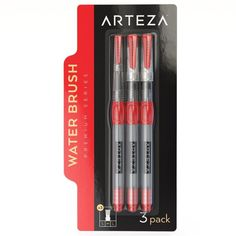 Art Lost 6-Piece Waterbrush Pen Set Portable Assorted Tips For Enhanced Creativity Maximum Durability Easy Clean