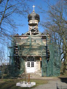 Eglise Saint Grégoire le Théologien - En restauration - Monastère de la Sainte Trinité Saint Serge - Strelna - Construite de 1855 à 1857 par l'Architecte Andreï Stackenschneider.