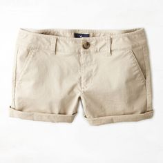 American Eagle Midi Shorts ($25) ❤ liked on Polyvore featuring shorts, cuffed shorts, american eagle outfitters, khaki shorts, midi shorts and american eagle outfitters shorts
