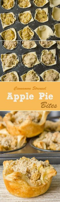The Art Of Life: Apple Pie Bites with Cinnamon Streusel