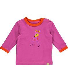 Mala lovely pink t-shirt with cute deer print. mala.en.emilea.be