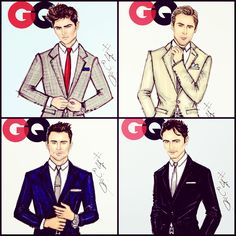 #Hayden Williams fashion Illustrations #The GQ collection by Hayden Williams:   Who is your favourite?