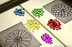 Flower Mandalas on the Light Table {Light & Reflections Series}   And Next Comes L