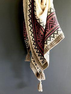 Ravelry: Boho style mosaic shawl pattern by Irene Lin
