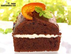 Cake de chocolate relleno de mascarpone