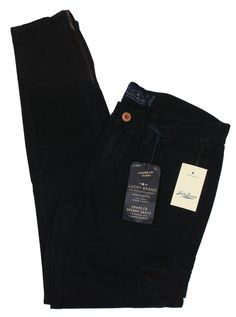 NEW Lucky Brand Womens Pants CHARLIE Skinny Leg Cargo Stretch Chino Black 27 $99 #LuckyBrand #Cargo