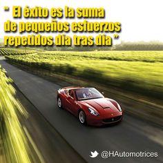 El éxito es la suma de esfuerzos repetidos día tras día. #emprendedores