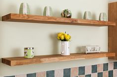Our solid oak floating shelves are the perfect addition to a kitchen, office, dining room or any living room in the house.  Thanks to the ingenious hidden supports, the premium oak timber shelving looks fantastic in any home environment.  For more information, visit our website: http://www.worktop-express.co.uk/solid_wood_shelves/solid-oak-floating-shelves.html