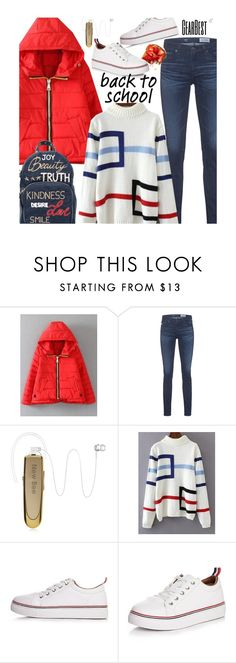 """""""School Style: Perfect Puffer Jackets"""" by beebeely-look ❤ liked on Polyvore featuring AG Adriano Goldschmied, RED Valentino, BackToSchool, schoolstyle, wintersweater, puffers and gearbest"""