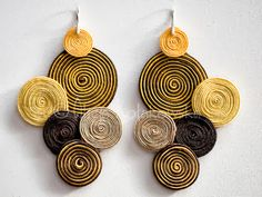 Schmuck Selber Machen Emotional Creative: The soutache technique: mater… - DIY Schmuck Paper Quilling Jewelry, Paper Earrings, Soutache Earrings, Paper Jewelry, Fabric Jewelry, Paper Beads, Polymer Clay Earrings, Diy Earrings, Earrings Handmade